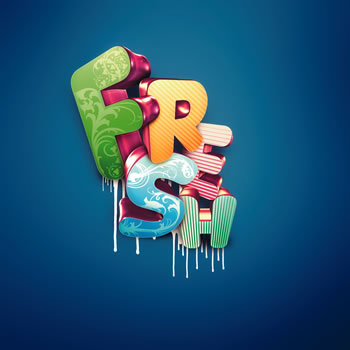 Colorful 3D Type